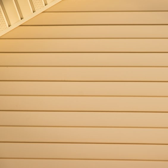 yellow siding on home
