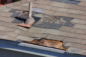 Roof Needing Roof Leak Repair