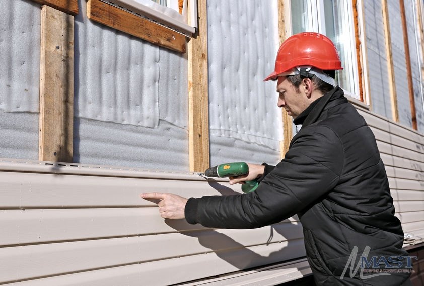We Conduct Siding Installation Service for Home Owners Working on House Repairs.