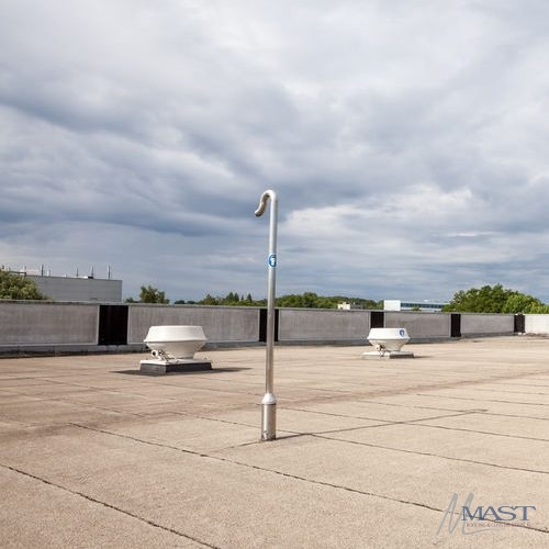 Flat Roof With Sky & Trees