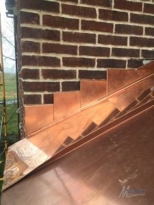 Chimney with Copper Roof Flashing