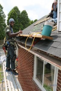 Roofer Smiling at the Camera