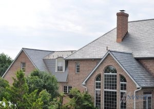 Slate Roofing Materials on a Brick Home