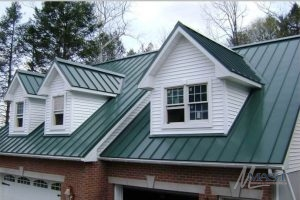 House After a Standing Seam Metal Roof Installation
